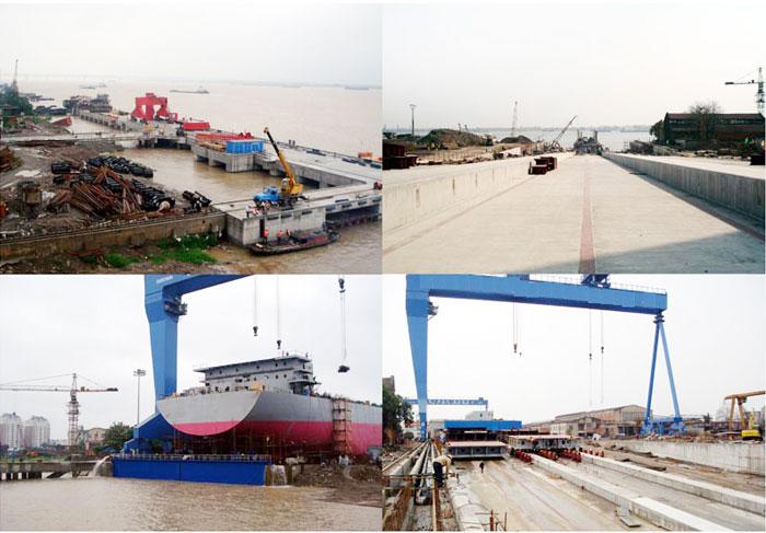 Shipyard jetty and ski track engineering